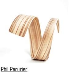 Phil Paturier : Bracelet élipse asymétrique en palissandre