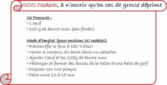 Etiquette pour bocal sos cookies
