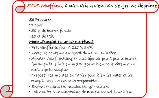 Bocal SOS Muffins