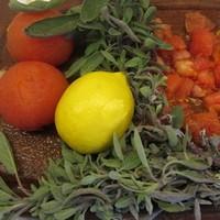 Veau à la sauge et sa polenta olives parmesan