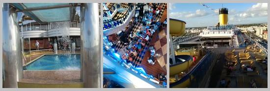 Cota Favolosa : vues de l'intérieur du bateau