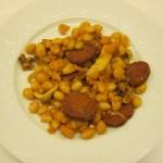 haricots coco au chorizo et aux seiches