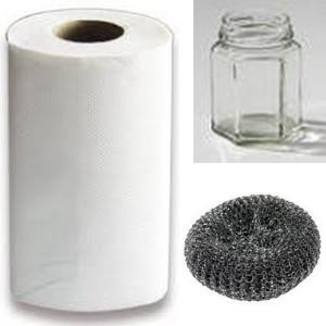 Enlever etiquettes pots verre