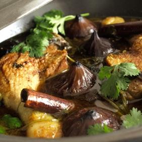 Tajine canard coriandre figues